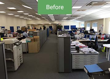 Before office refurbishment