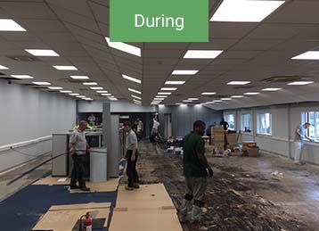 During office refurbishment